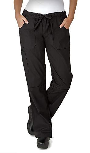 Women's Stretch Drawstring Chef Pant (XS-3X, Black) (X-Large) for $<!--$29.99-->