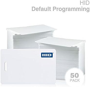 25 Pack, Genuine Hid Genuine HID ISOProx II 1386 LGGMN PVC Proximity Card for Access Control 25 Pack Standard 26 bit H10301 Format.