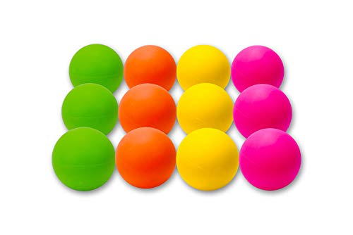 12 Pack Lacrosse Massage Balls - Multiple Colors Available (Multicolored)