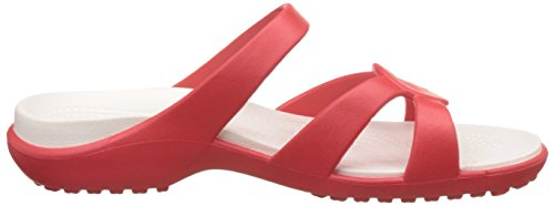 Ouvert Twist Crocs Sandales oyster Flame Meleen Femme Bout wfI4qxI