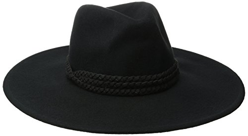 San Diego Hat Company Women's Rancher Hat with Triple Braid Suede Band, Black, One Size