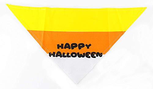 Midlee Candy Corn Halloween Dog Bandana (Large) ()