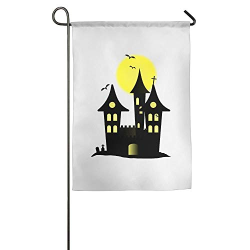 Halloween Castle Garden Flag Indoor & Outdoor Decorative Flags for Parade Sports Game Family Party Wall Banner 12x18 inches -