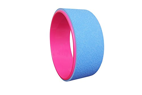 Yoga Wheel - NEW! , 12.5 x 5 Inch Basic. mill direct sell , green, blue and peach color available (blue)