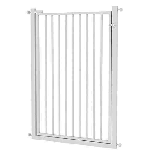 Pet Cat Fence Door/Pet Gate for Dogs Cats, 120cm Extra High Indoor Pet Dog Guardrail Pressure Mount Fit Stairway Or Doorway 71-117cm, Easy Open (Size : Width 71-76cm)