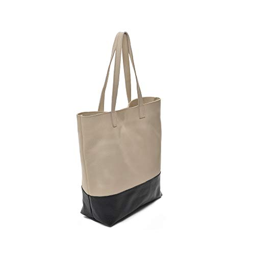 65229185d94c9 Amazon.com   Keira  Designer Tote Bag in Black and Tan Italian Nappa Leather  Made in America by Carla Mancini  Shoes