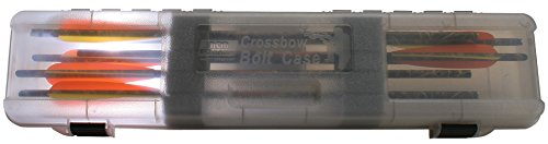 MTM Crossbow Bolt Case Holds-12 Clear Smoke - Crossbow Max Case