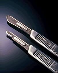 BD Bard-Parker Blades, Sterile, Carbon Steel, #10, 50/Ca, BD371110