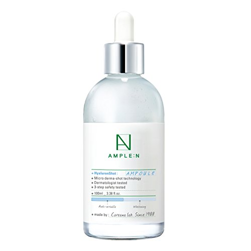 [AMPLE:N] Hyaluron Shot Ampoule 3.38 fl. oz. (100ml) - Hyluronic Acid & Xylitol Complex Contained, Powerful Hydrating Skin Care Ampoule for Dry and Rough Skin