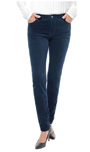 Buffalo David Bitton Womens Brushed Corduroy Skinny Jean (12 x 32L, Dark Blue)
