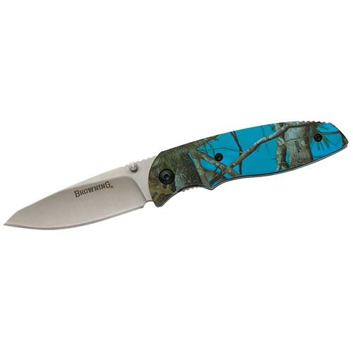 Browning, EDC Folding Knife, Blue Camouflage