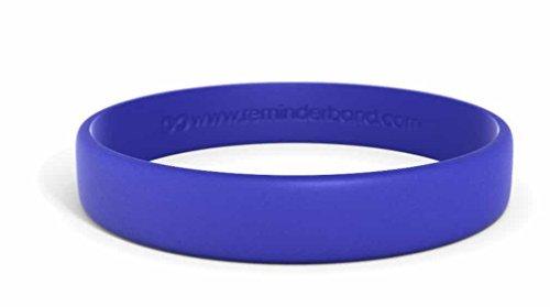 (Reminderband Classic Custom Silicone Wristband/Personalized Silicone Bracelet/Rubber Bracelet (Navy Blue, Large))
