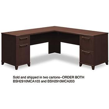 Amazon Com Bush L Shaped Desk 72 Inch By 72 Inch By 30