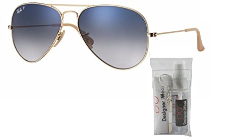 Large Gradient Gold crystal Aviator Sunglasses Rb3025 Metal Ray Ban Polarized Blue xqwPFYvqE