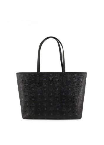 Zip Top Shopper - MCM Women's Anya Zip Top Shopper Tote, Black, One Size