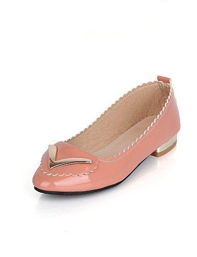 PDX/ Damenschuhe - Ballerinas - Lässig - Lackleder - Niedriger Absatz - Spitzschuh - Schwarz / Rosa / Beige pink-us1.5 / eu31 / uk0.5 / cn30