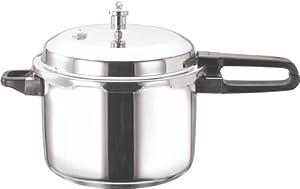 Vinod V-10L Stainless Steel Sandwich Bottom Pressure Cooker, 10-Liter by Gandhi - Appliances