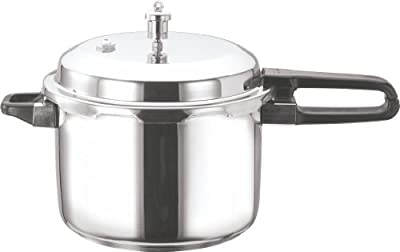 Vinod V-10L Stainless Steel Sandwich Bottom Pressure Cooker, 10-Liter by Gandhi - Appliances