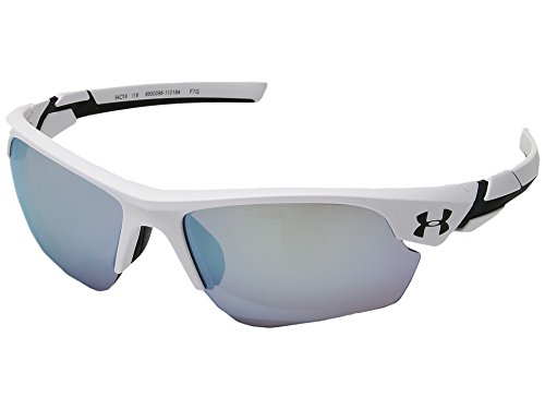 Under Armour UA Windup Wrap Sunglasses, UA Windup Satin White / Black Frame / Baseball Tuned Lens, 58 - Sunglasses Youth Costa