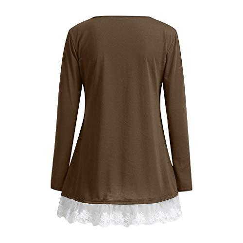 Chica Primavera Mujer Para Originales Elegantes Blusa Gris Manga Camiseta Larga 2019 Blusas Vectry Camisetas XwA0qWSF