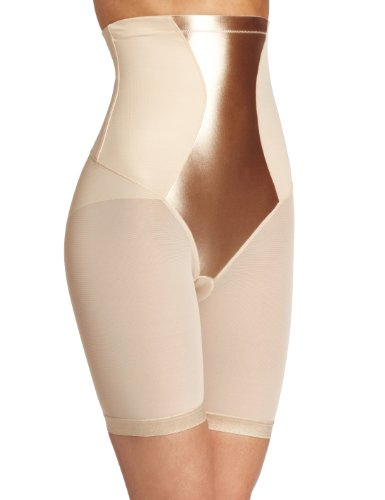 (Maidenform Flexees Women's Shapewear Hi-Waist Thigh Slimmer, Latte Lift, Medium)
