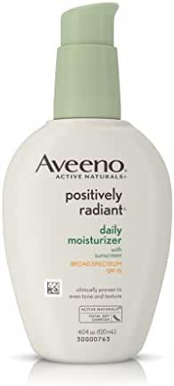 Aveeno Positively Radiant Daily Moisturizer With Sunscreen Broad Spectrum Spf 15, 4 Oz