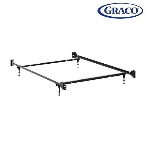 Graco Full-Size Crib Metal Bed Frame Conversion Kit, Black
