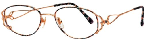 Triumph Optical Romance Womens Eyeglasses Gold Fantasy