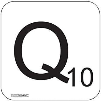Q de Scrabble Letra Novedad Imán para Frigorífico – 9 cm x 9 cm x 9 cm madera – Acabado Brillante – Fun juegos de palabras diseño: Amazon.es: Hogar