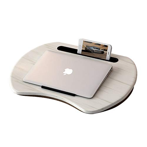"HOME BI Lap Desk for Laptop, Portable Laptop Table with Phone Tablet Holder, Fits up to 15"" Laptop and 9.7"