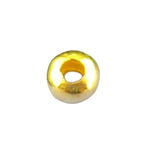 1000pcs 3mm Gold Plated Round Ball Spacer Beads DIY Jewelry Making Findings (Golden) (Beads Plated Gold 3mm)