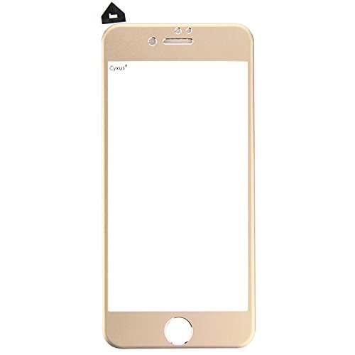 Cyxus 3D [Curved Surface] Full Coverage Edge to Edge Protection High Defintion (HD) Film Titanium Alloy Curve Tempered Glass Screen Protector for Apple iPhone 6 Plus (iPhone6 5.5 inch ONLY) (Gold)
