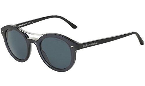 (Giorgio Armani AR8007 - 5015R5 Sunglasses Black w/ Grey Lens)