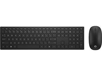 HP Pavilion 800 - Pack con teclado y ratón inalámbricos (delgado, estilizado, teclas optimizadas, indicador luminoso LED, diseño italiano) negro: Amazon.es: ...