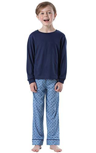 (PajamaGram Big Boys' Pajamas Jersey - Long Sleeve 2 Piece Boys PJs)
