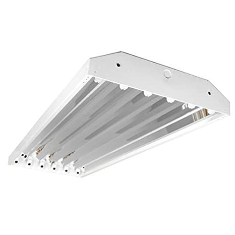 Four Bros Lighting 6 Lamp T8 High Bay Fluorescent Light Fixture ...