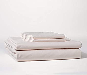 Mitre Comfort Percale Fitted Sheet Polycotton in Beige 40//40YC 180TC King Size
