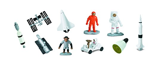 (Safari Ltd Space TOOB With 10 Out Of-This-World Toy Figurines, Including 2 Astronauts, 1 Space Chimp, 6 Space Craft, And More! – For Ages 3 And)