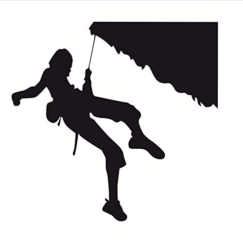 3D Wall Sticker Art Sticker Applique Mural Extreme Sports Home Decor Rock Climber Climbing Silhouette Wall Stickers Vinyl Removable DIY Wall Decals for Kids Room 60 56Cm