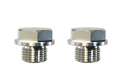 (CarXX Universal Fit M18x1.5 O2 Oxygen Sensor Stainless Steel Weld Bung Plug (2 Plugs))
