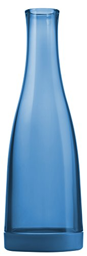 Drinique SRV-CA-BLU-1 Beverage Service Easy Clean Carafe Decanter, 32 oz, Blue