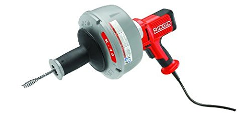 RIDGID 35473 K-45AF Sink Machine with C-1 5/16 Inch Inner Core Cable and AUTOFEED Control, Sink Drain Cleaner Machine and Bulb Drain Auger by Ridgid