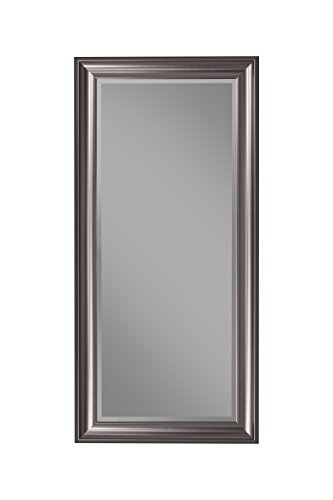 Sandberg Furniture 14311 Full Length Leaner Mirror Frame, - Large Mirror Silver