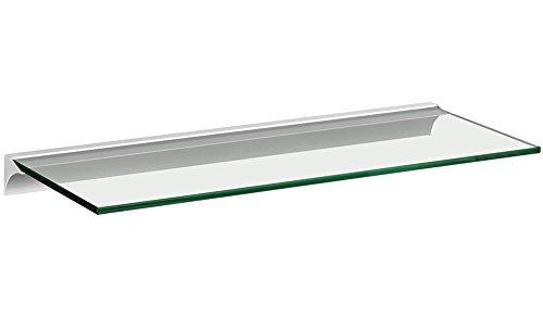 Glasregal / Wandregal Square+Rail | 5 Größen | 4 Dekore | 600x200x8 mm - klar/silber