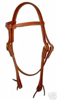Amish USA Horse Tack Hermann Oak Leather Knotted Browband 975H200 ()