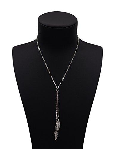 Boosic Vintage Feather Pendants Necklaces product image
