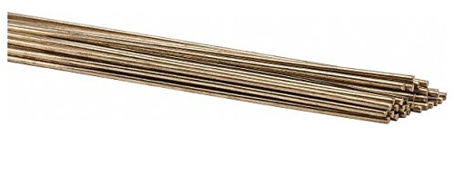36 Inch Long, 1/16 Inch Diameter, Bare Coated, Low Fuming Bronze, TIG Welding and Brazing Rod 1 Lb, Industry Specification RBCuZn-C, 1 Pound Tube