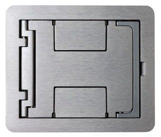 Wiremold FPBTCAL Die Cast Aluminum Flanged Cover Assembly 6-1/2 Inch x 7-3/4 Inch FloorPort™