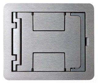 Wiremold Walker Legrand FPBTCBS Floorport Covers Flanged Blank Top, Brass ()