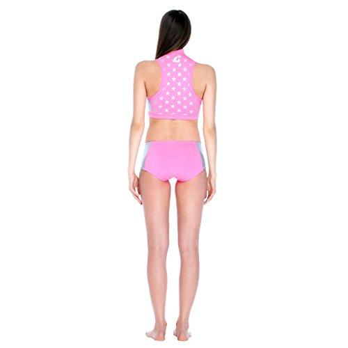 GLIDESOUL recreativas de baño Junta de cintura alta pantalones cortos Negro - Black/Leopard